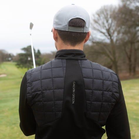 Galvin Green Golf Jacket - Damian Padded Insula - Black AW21