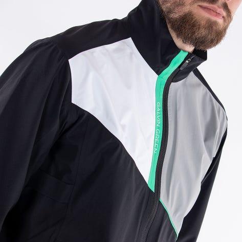 Galvin Green Waterproof Golf Jacket - Apollo - Black - Green AW21