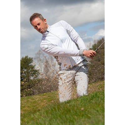 Galvin Green - White Full Zip Insula Sweater - Campaign SS21