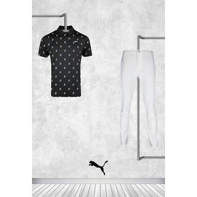 Gary Woodland - Masters Thursday - Black Logo Golf Shirt 2021