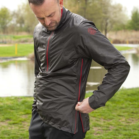 Galvin Green Waterproof Golf Jacket - Ashby Shakedry - Grey - Red AW20
