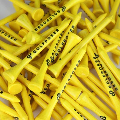Golfposer GP Golf Tees - Citron Yellow - Pack of 50