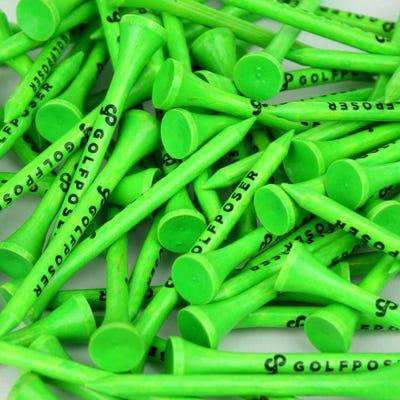 Golfposer GP Golf Tees - Kermit Green - Pack of 50