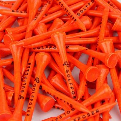 Golfposer GP Golf Tees - Zesty Orange - Pack of 50
