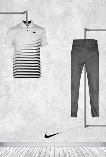 Greg Koch - US PGA Thursday - White Nike Golf Shirt 2021
