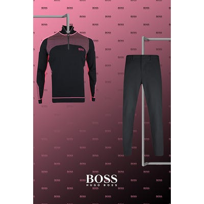 Henrik Stenson - US Open Thursday - Black Pink BOSS Golf Sweater 2021