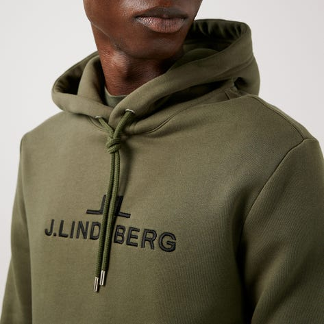 J.Lindeberg Athleisure Pullover - Alpha Hoodie - Thyme Green AW21