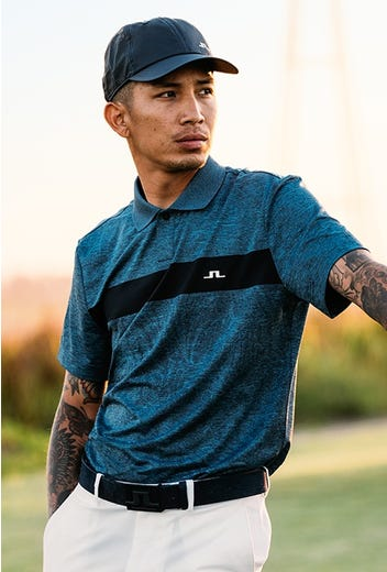 J.Lindeberg - Floral Jacquard Golf Shirt - HS21 Campaign