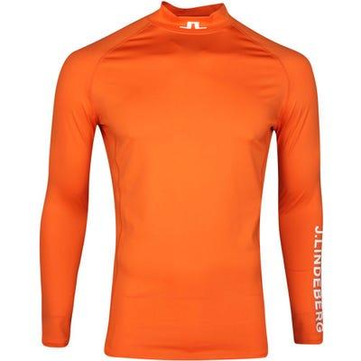 J.Lindeberg Golf Base Layer - Aello Soft Compression - Lava Orange SS21