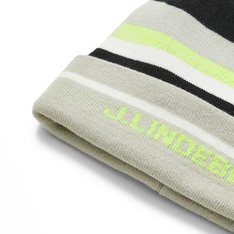 J.Lindeberg Golf Hat - Stripe Beanie - Black AW21