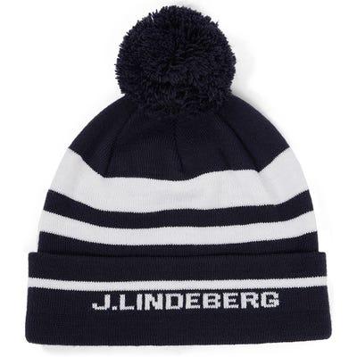 J.Lindeberg Golf Hat - Stripe Beanie - JL Navy AW21
