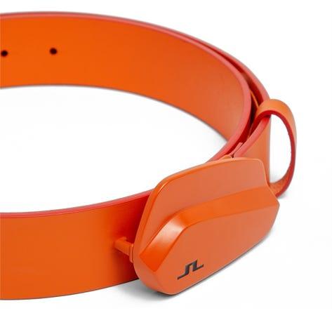 J.Lindeberg Golf Belt - Club Leather - Lava Orange SS21