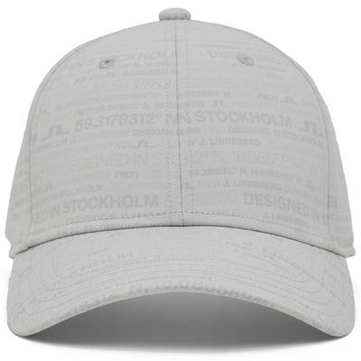 J.Lindeberg Golf Cap - JL HQ Print - Grey AW21