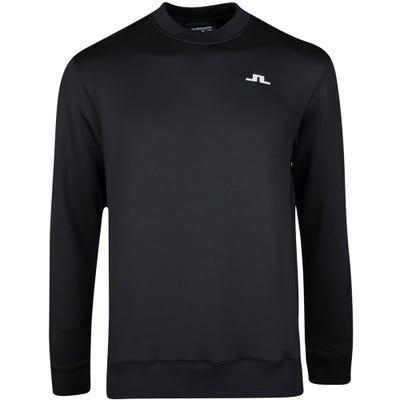 J.Lindeberg Golf Jumper - Stretch Fleece Crew - Black SS21