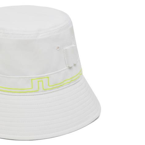J.Lindeberg Golf Hat - Hans Bucket - White - Acid Dreams AW21