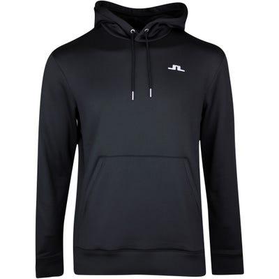 J.Lindeberg Golf Pullover - Stretch Fleece Hoodie - Black SS21