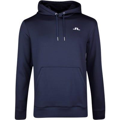 J.Lindeberg Golf Pullover - Stretch Fleece Hoodie - Navy SS21