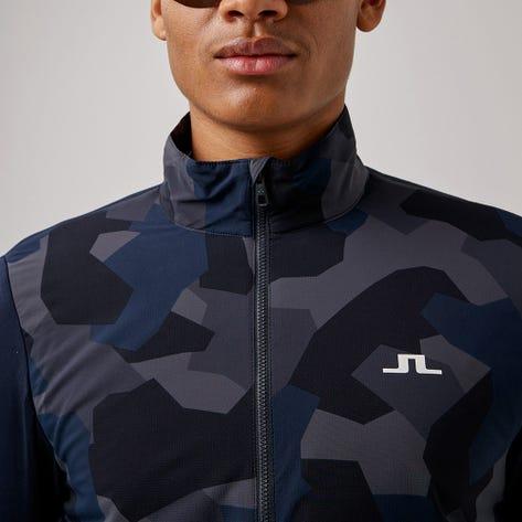 J.Lindeberg Golf Jacket - Packlight Print - Navy Camo AW21