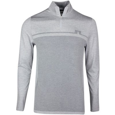 J.Lindeberg Golf Pullover - Joey SMLSS Mid Layer - Stone Grey SS21