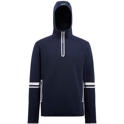 J.Lindeberg Golf Pullover - Logo Hoodie QZ - JL Navy AW21