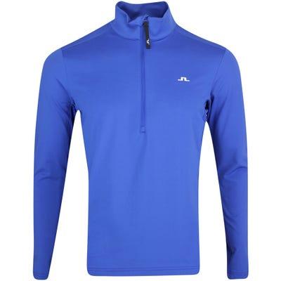 J.Lindeberg Golf Pullover - Luke Mid Layer - Spectrum Blue AW21