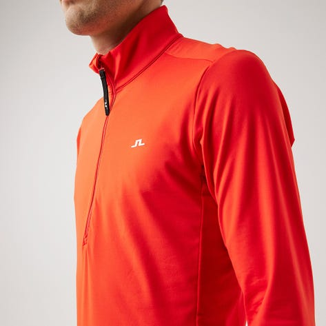 J.Lindeberg Golf Pullover - Luke Mid Layer - Racing Red AW21