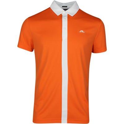 J.Lindeberg Golf Shirt - Ade Regular Fit - Lava Orange SS21