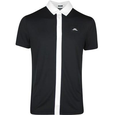J.Lindeberg Golf Shirt - Ade Regular Fit - Black SS21