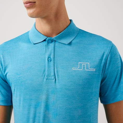 J.Lindeberg Golf Shirt - Bridge Regular Fit - Fancy Blue AW21