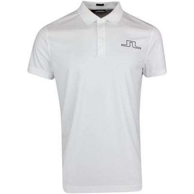 J.Lindeberg Golf Shirt - Bridge Regular Fit - White AW21