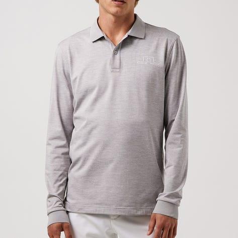 J.Lindeberg Golf Shirt - Bridge LS Regular Fit - Micro Chip AW21