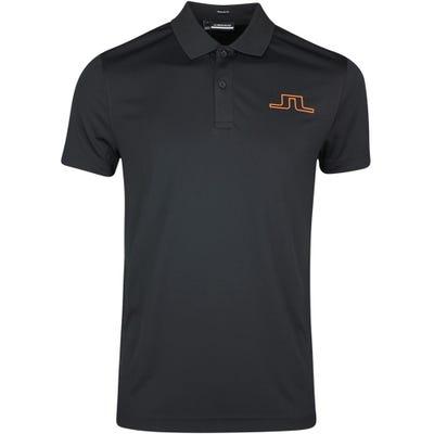 J.Lindeberg Golf Shirt - Bridge Regular Fit - Black SS21