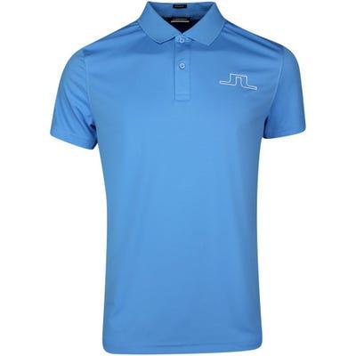 J.Lindeberg Golf Shirt - Bridge Regular Fit - Ocean Blue SS21