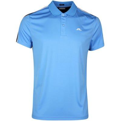 J.Lindeberg Golf Shirt - Flinn Regular Fit - Ocean Blue SS21