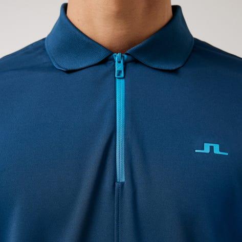 J.Lindeberg Golf Shirt - Fredric Regular Fit - Majolica Blue AW21