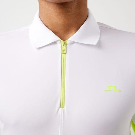 J.Lindeberg Golf Shirt - Fredric Regular Fit - White AW21