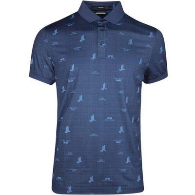 J.Lindeberg Golf Shirt - Glen Regular Fit - JL Navy SS21