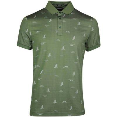 J.Lindeberg Golf Shirt - Glen Regular Fit - Thyme SS21