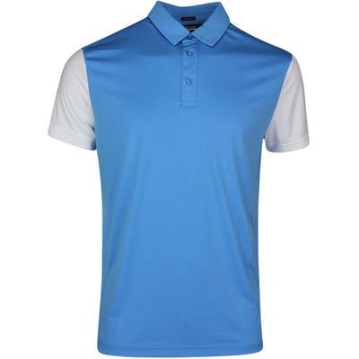 J.Lindeberg Golf Shirt - Harry Regular Fit - Ocean Blue SS21