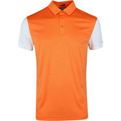 J.Lindeberg Golf Shirt - Harry Regular Fit - Lava Orange SS21