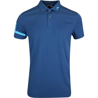 J.Lindeberg Golf Shirt - Heath Regular Fit - Majolica Blue AW21