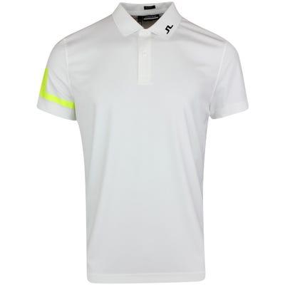J.Lindeberg Golf Shirt - Heath Regular Fit - White - Acid Dreams AW21