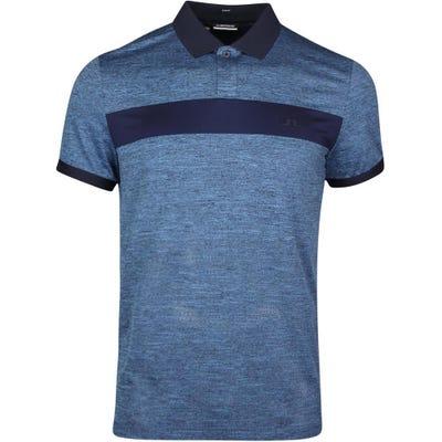 J.Lindeberg Golf Shirt - Jay Slim Fit - Navy Melange SS21