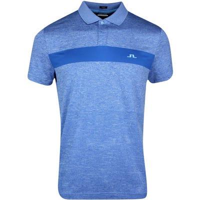 J.Lindeberg Golf Shirt - Jay Slim Fit - Ocean Blue SS21
