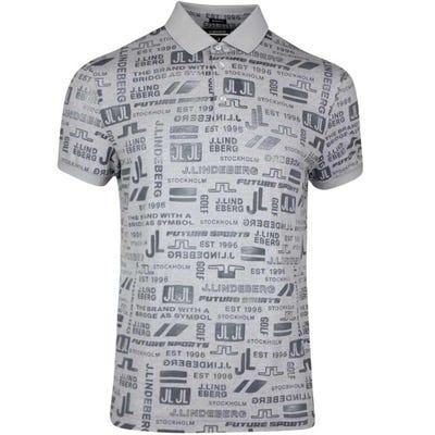 J.Lindeberg Golf Shirt - KV Regular Print - JL Future Grey SS21