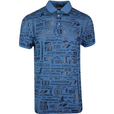 J.Lindeberg Golf Shirt - KV Regular Print - JL Future Navy SS21