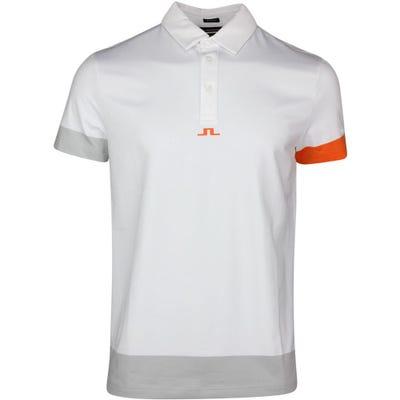 J.Lindeberg Golf Shirt - Per Regular Fit - White SS21