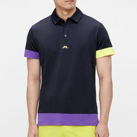 J.Lindeberg Golf Shirt - Per Regular Fit - Ultra Violet SS21