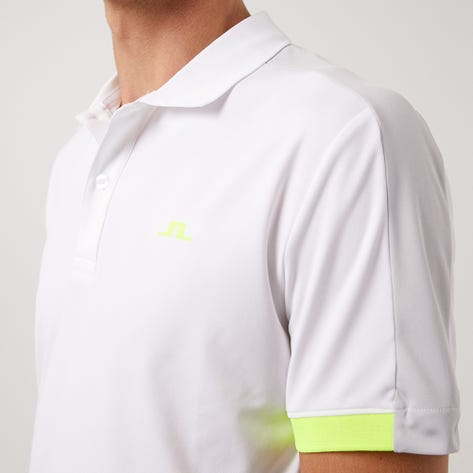J.Lindeberg Golf Shirt - Rowland Slim - White AW21