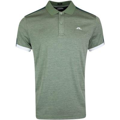 J.Lindeberg Golf Shirt - Rowland Slim - Iceberg Melange AW21